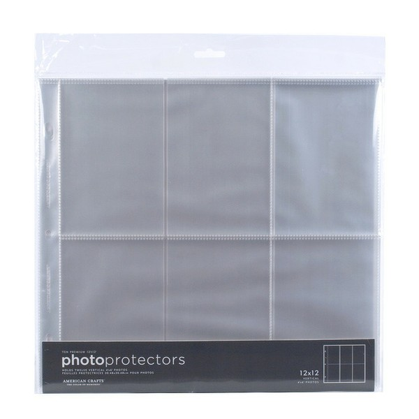 Page protectors 4x6 20 pack scrap n country for American crafts page protectors 8x8
