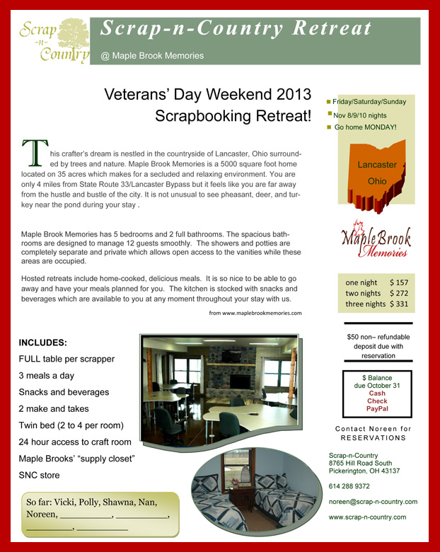 veteran's day retreat