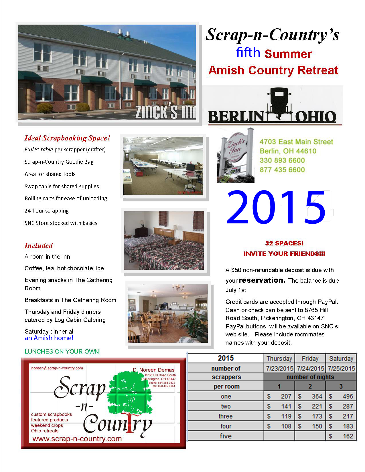 2015 SUMMER Amish Country Retreat