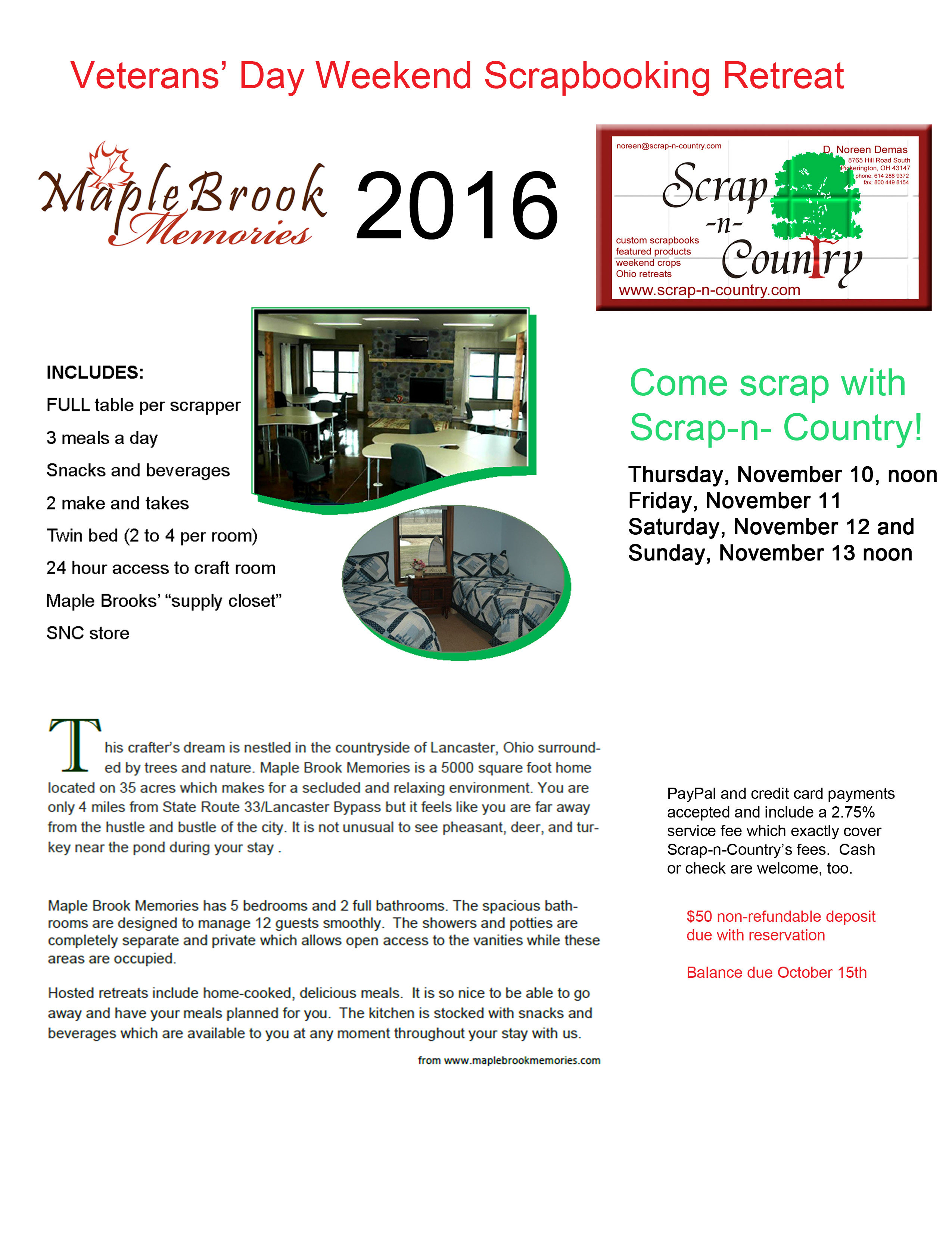 Maple Brooks Memories Nov 2016